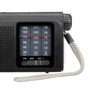 Retekess TR605 Tragbares UKW- / MW- / SW-Radio mit LED-Taschenlampe Große Skalenanzeige