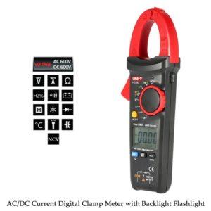 UNI-T UT213C Handheld Digital LCD-Clamp Meter Multimeter AC/DC Spannung AC/DC aktuelle Widerstand Kapazitiv Diode NCV Temperatur Messung Durchgangsprüfer mit Taschenlampe