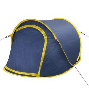 vidaXL Faltbares Zelt für 2 Personen marineblau/ gelb