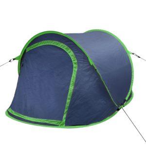vidaXL Faltbares Zelt für 2 Personen marineblau/ grün