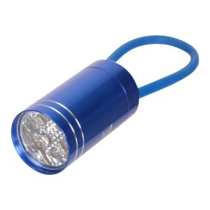 6 LED Mini-Taschenlampe mit Gummiband - Blau