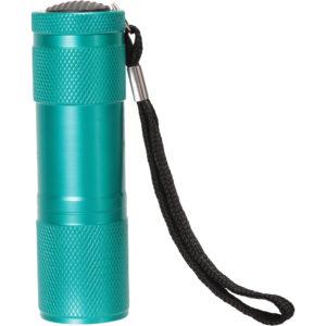 Lustige Geschenk-Taschenlampe mit 9 LEDs - Dunkel Türkis