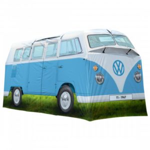 VW Collection - VW T1 Bus Grosses Campingzelt - 4-Personen Zelt Gr 398 x 187 x 157 cm grau/blau/oliv
