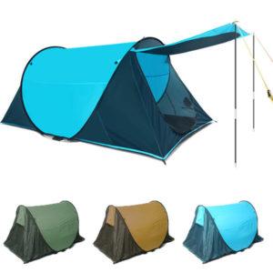 230 x 130 x 90cm Camping Zelt 2-3 Personen Automatische Eröffnung Familienfeier Sonnenschirm Zelt