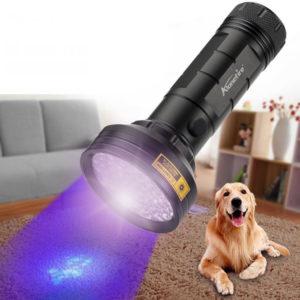 AloneFire 68LED 9W 50M 395nm UV Licht IP65 wasserdichte LED Taschenlampe AA Taschenlampe