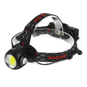 BIKIGHT 1315B 650LM T6 + COB LED USB wiederaufladbare Scheinwerfer Taschenlampe Scheinwerferlampe für die Jagd Radfahren
