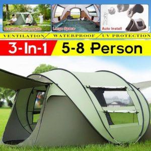 IPRee® Auto Setup Zelt für 5-8 Personen 3 IN 1 wasserdichtes UV Resistance Large Camping Zelt Sun Shelters Outdoor Einfa