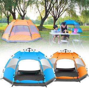 Outdoor 3-4 Personen Automatische Camping Zelt Wasserdichte Doppelschicht UV Strand Sonnenschirm Baldachin