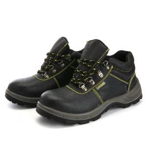 TENGOO Herren Wanderschuhe Stahlkappe Sicherheitsschuhe Anti-Smashing Arbeitsschuhe Outdoor Sneakers
