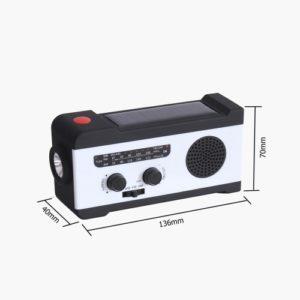 Wiederaufladbare Solarradio-Handkurbelradio-Notladung für Telefondynamo mit LED-Taschenlampe