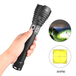 XANES 1909 XHP90 2500 Lumen 3Modes USB Wiederaufladbar Zoombar LED Taschenlampe Außen 18650/26650 Taschenlampe LED Tasch