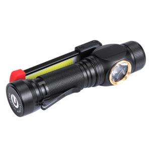 XANES W550 LED + COB 7 Modi 360° gedreht + 180° Faltbarer Kopf Magnetischer Schwanz USB aufladbare Taschenlampe Arbeitsl