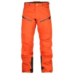 Fjällräven - Bergtagen Eco-Shell Trousers - Regenhose Gr 54 - Long - Fixed Length rot/orange
