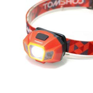 TOMSHOO Super hellen LED-Scheinwerfer Hochleistungs-Taschenlampe Wasser Widerstand USB Kabel wiederaufladbare Scheinwerferlampe für Radfahren Camping Klettern anderen Outdoor-Aktivitäten