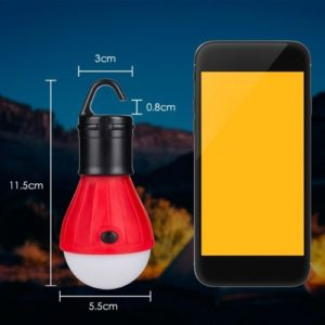 10 stücke mini tragbare laterne zelt licht led lampe notfall lampe wasserdicht hängen haken taschenlampe für camping rot