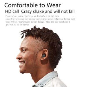 Echte kabellose Bluetooth 5.0-Ohrhörer mit Mini-Lüfter-Taschenlampe TWS-Ohrhörer im Ohr mit Ladekoffer Multifunktionale BT-Kopfhörer für das Sport-Fitnessstudio