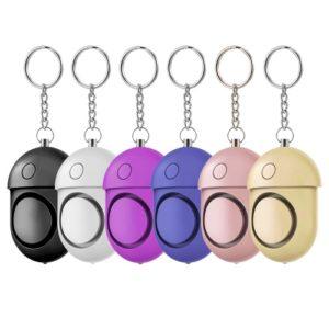Persönlicher Alarm / 125-130dB Safe Sound Notfall-Selbstverteidigung Alarm / Schlüsselanhänger / LED-Taschenlampe
