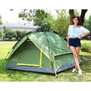 3-4 Personen Doppelschichten Wasserdicht Atmungsaktiv Automatische Zelt mit Tasche