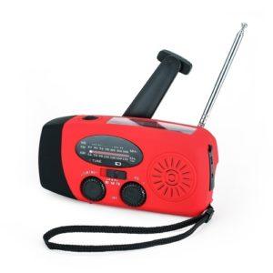 Tragbares Radio mit AM / FM-Taschenlampen-Leselampe NOAA Wetter Mobile Stromquelle für solarbetriebene Notkurbel-Handfunkgeräte