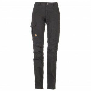 Fjällräven - Women's Karla Pro Trousers - Trekkinghose Gr 42 - Regular - Raw Length schwarz