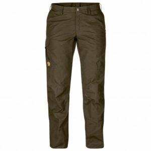 Fjällräven - Women's Karla Pro Trousers - Trekkinghose Gr 44 - Regular - Raw Length schwarz/braun