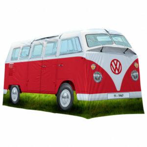 VW Collection - VW T1 Bus Grosses Campingzelt - 4-Personen Zelt Gr 398 x 187 x 157 cm grau/blau/oliv;grau/rot/oliv