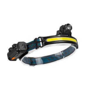 COB Stirnlampe Taschenlampen Hohe Helligkeit LED Scheinwerfer USB Wiederaufladbare Lauflampe Wasserdicht für Camping Joggen Angeln Wandern